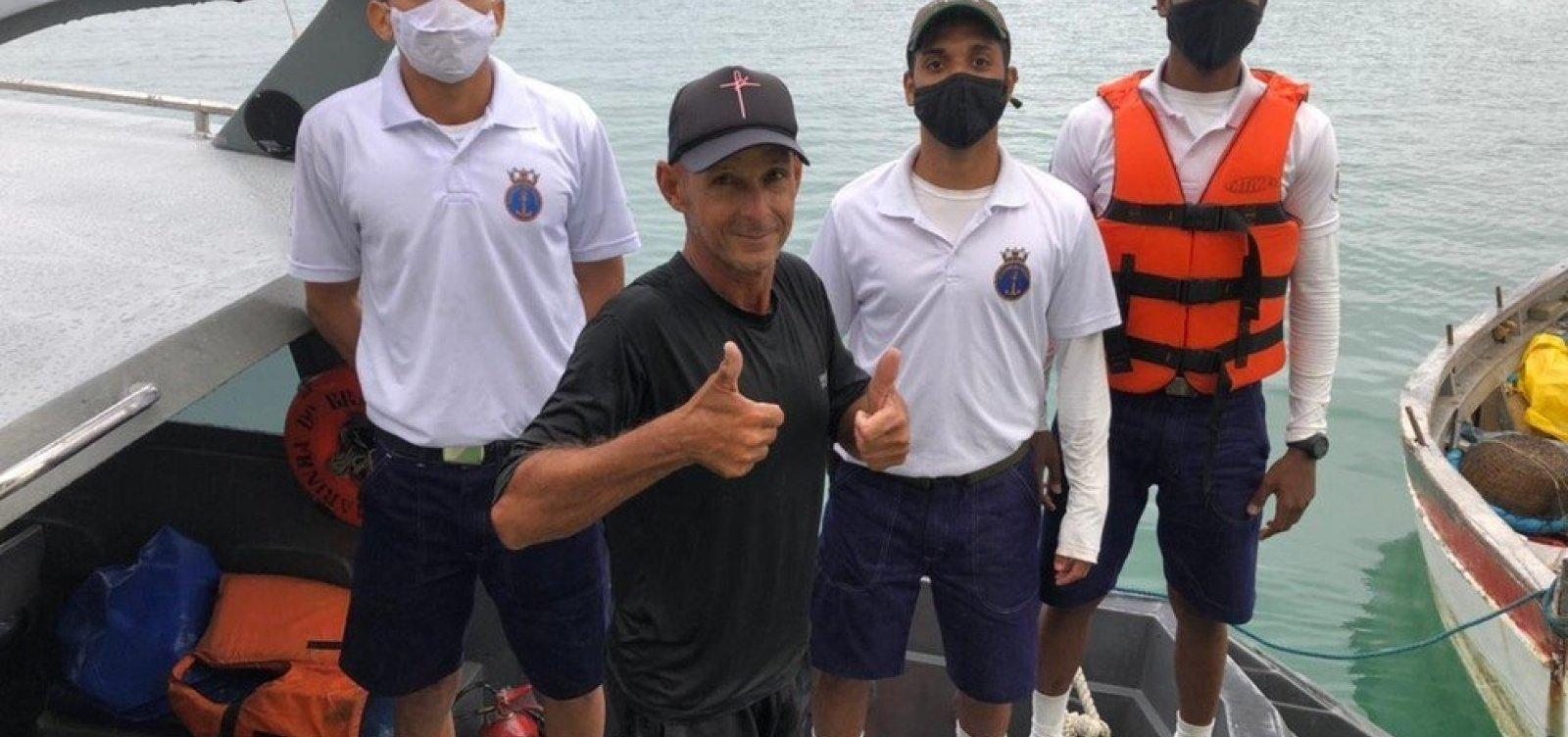 Pescador é encontrado após 24 horas à deriva na baía de Todos-os-Santos