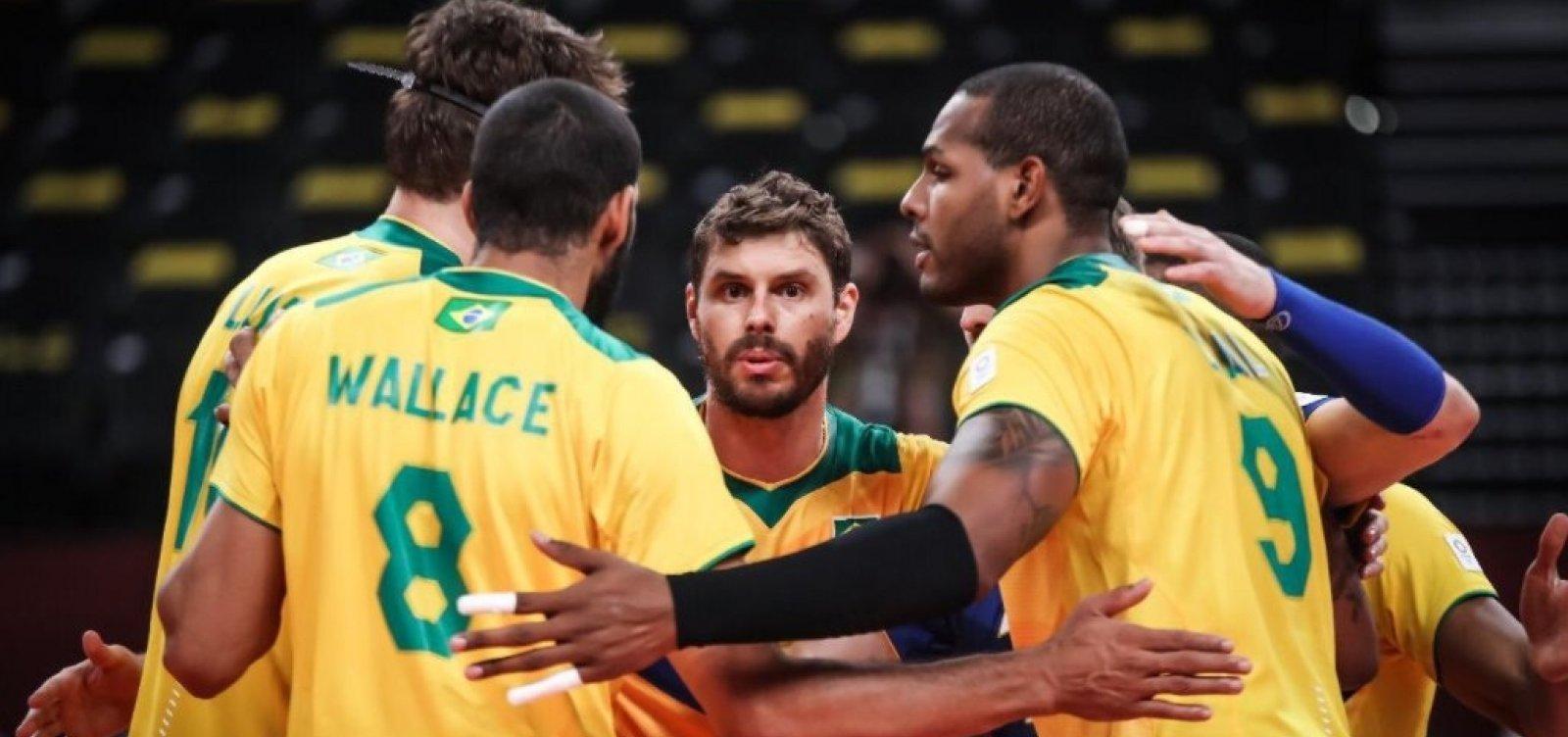 Em partida apertada, seleção masculina de vôlei vence Argentina por 3 sets a 2