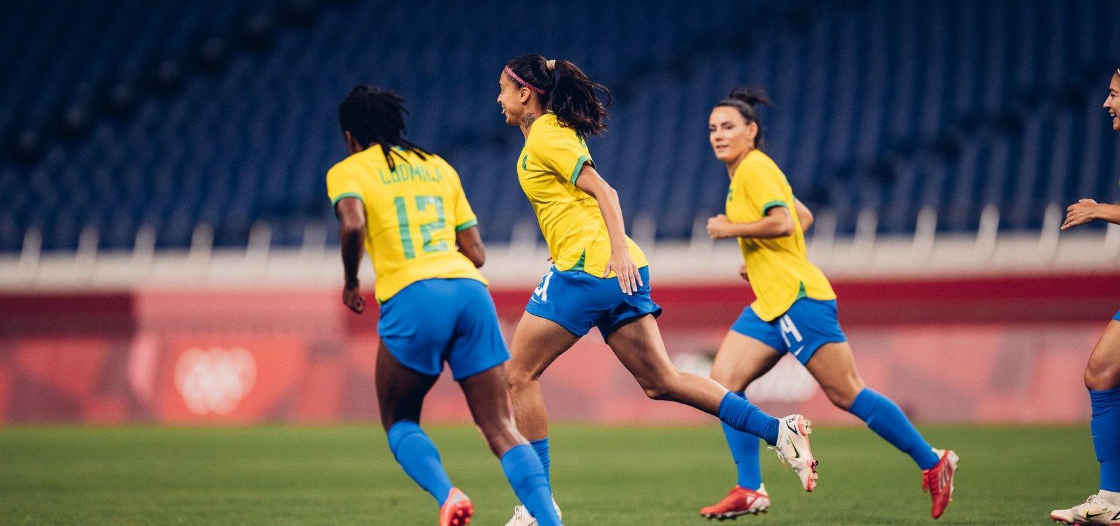 Seleção feminina vence Zâmbia por 1 a 0 e enfrenta Canadá nas quartas-de-final