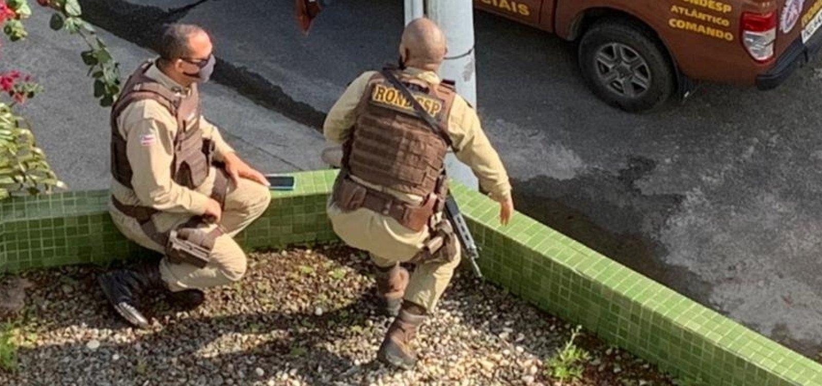Bandido é baleado durante troca de tiros com a Rondesp no campus da Ufba