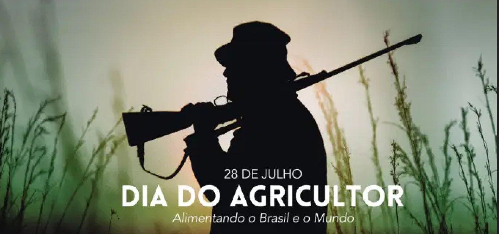 Com foto de homem armado, governo Bolsonaro faz homenagem ao Dia do Agricultor