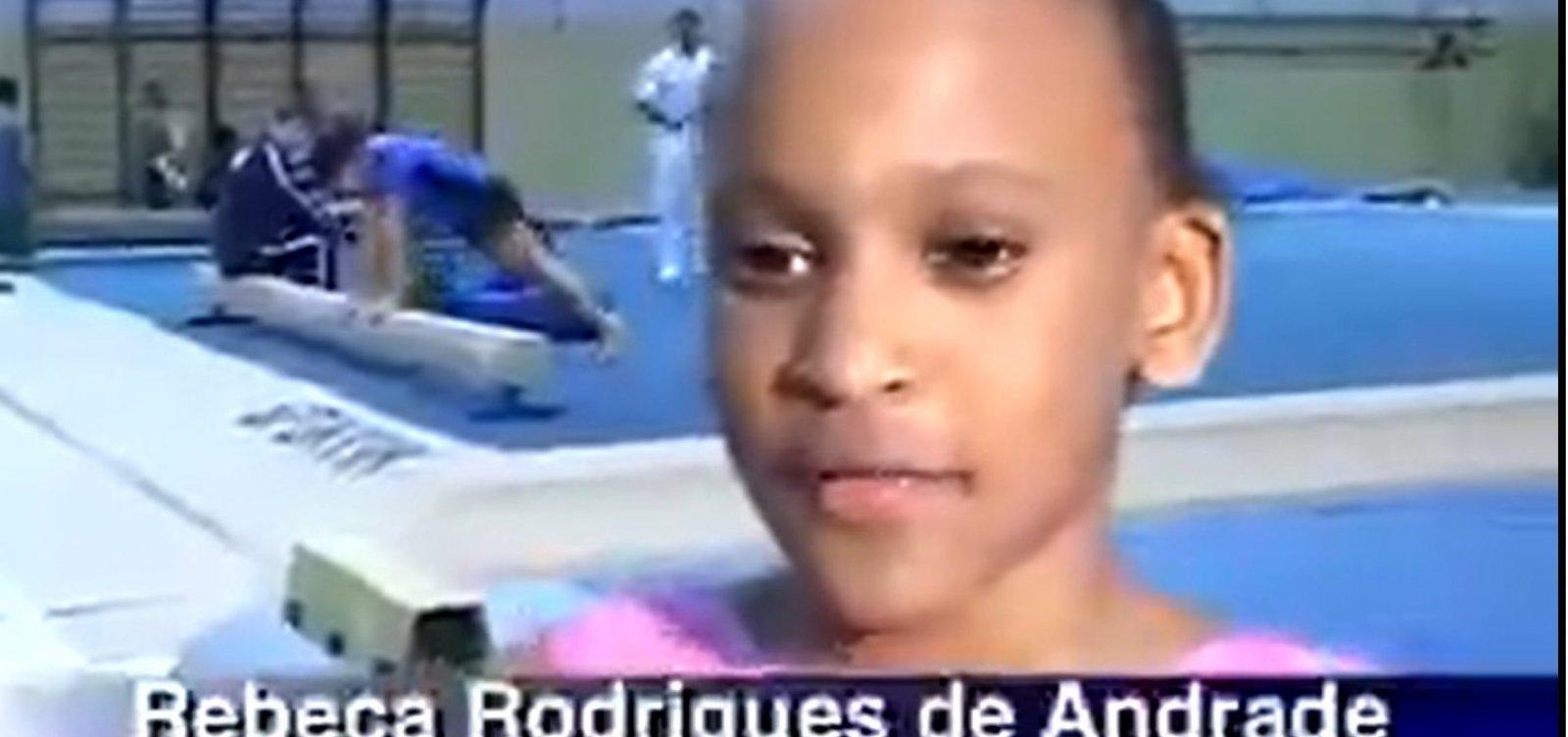 Reportagem de 2009 mostra Rebeca Andrade criança e fã de Daiane dos Santos