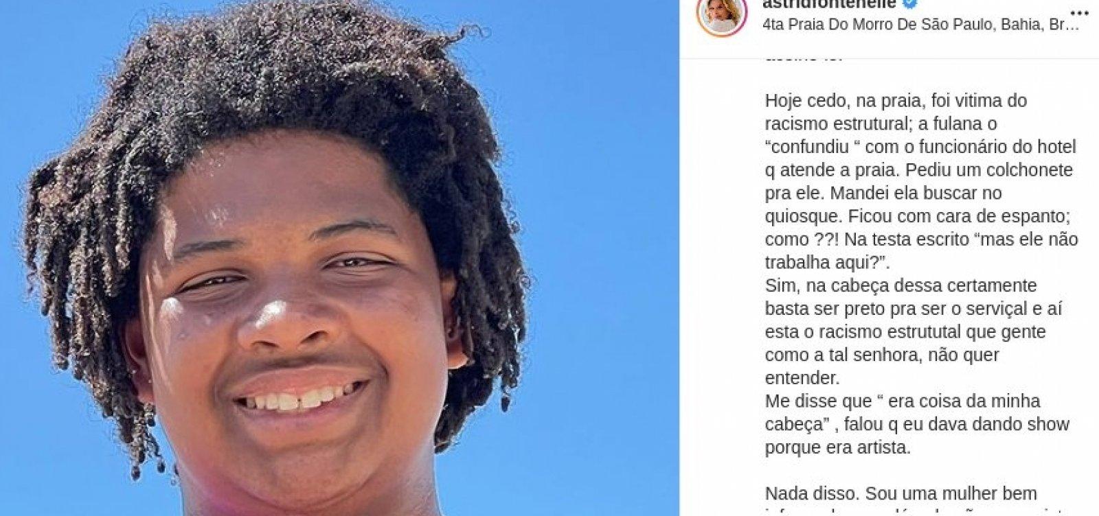 Apresentadora usa redes sociais para denunciar racismo contra filho em Morro de São Paulo