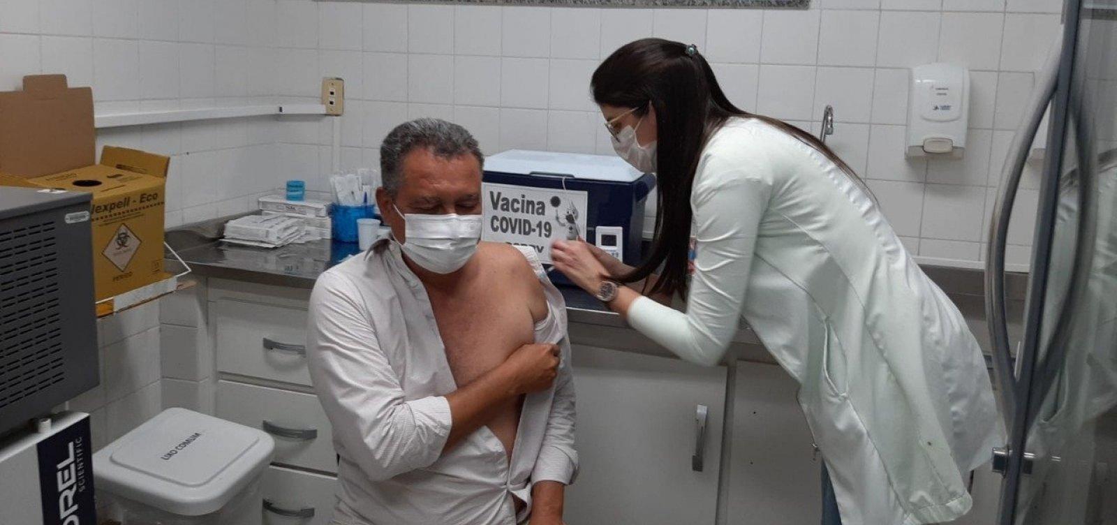 Rui Costa recebe segunda dose da vacina contra Covid-19 nesta sexta