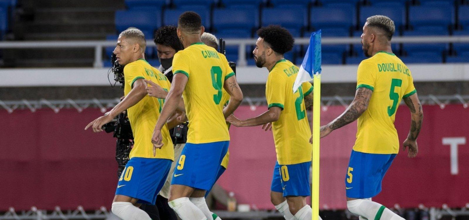 Transmissão olímpica deste sábado tem a Seleção de futebol tentando avançar para a semifinal