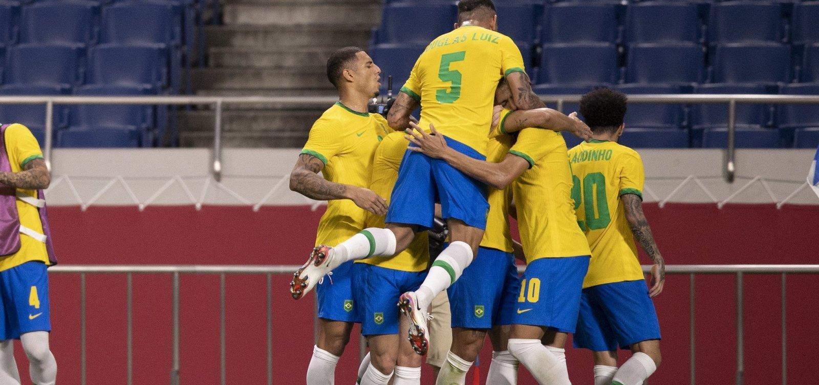 Brasil vence o Egito por 1 a 0 e disputará medalha nas Olimpíadas