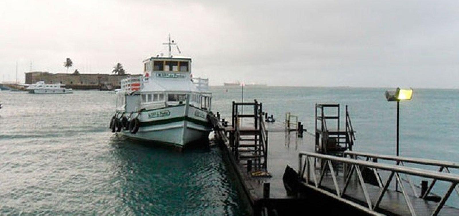 Mau tempo interrompe travessia de lanchas entre Salvador e Mar Grande