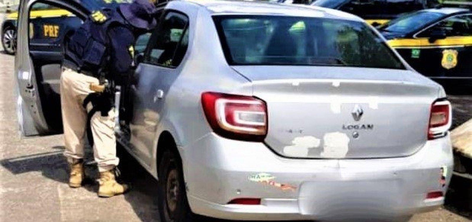 PRF apreende veículo com mais de R$ 60 mil em multas de trânsito