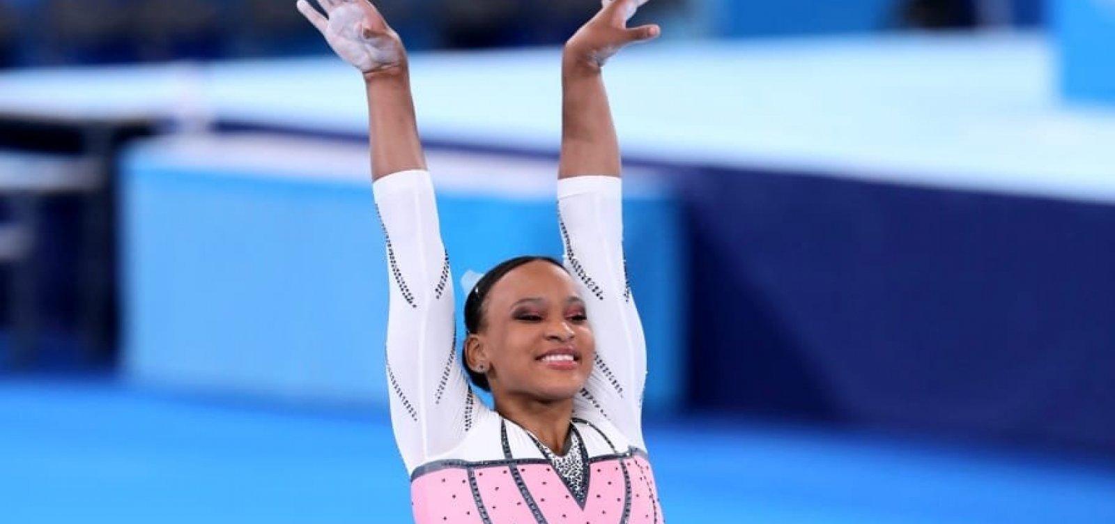 Com ouro no salto, Rebeca Andrade é a primeira ginasta brasileira campeã nas Olimpíadas