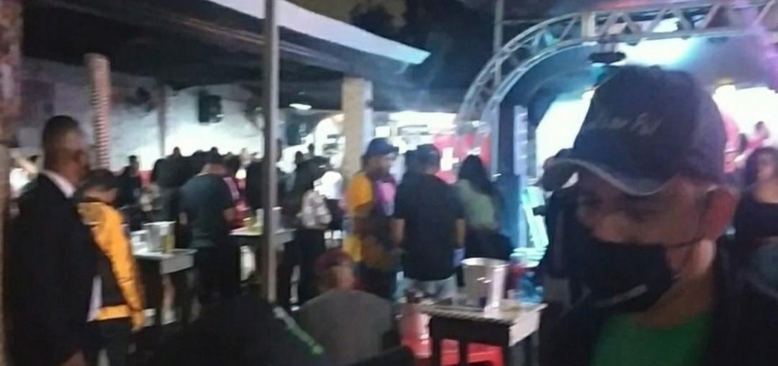 Feira de Santana: Fiscalização encerra festas e dispersa cerca de 300 pessoas