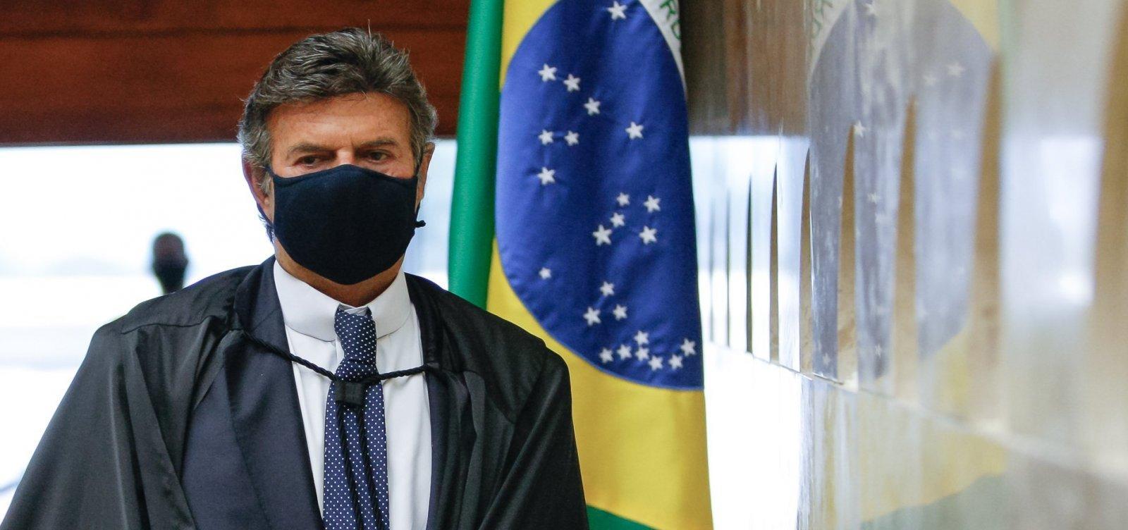 Após ameaças de Bolsonaro, Fux diz que harmonia entre os poderes não implicam impunidade