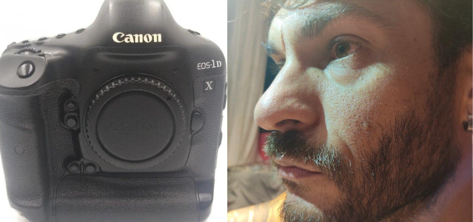 """Fotógrafo do Correio tem máquina roubada em serviço e pede ajuda para localizar equipamento: """"É meu ganha pão"""""""