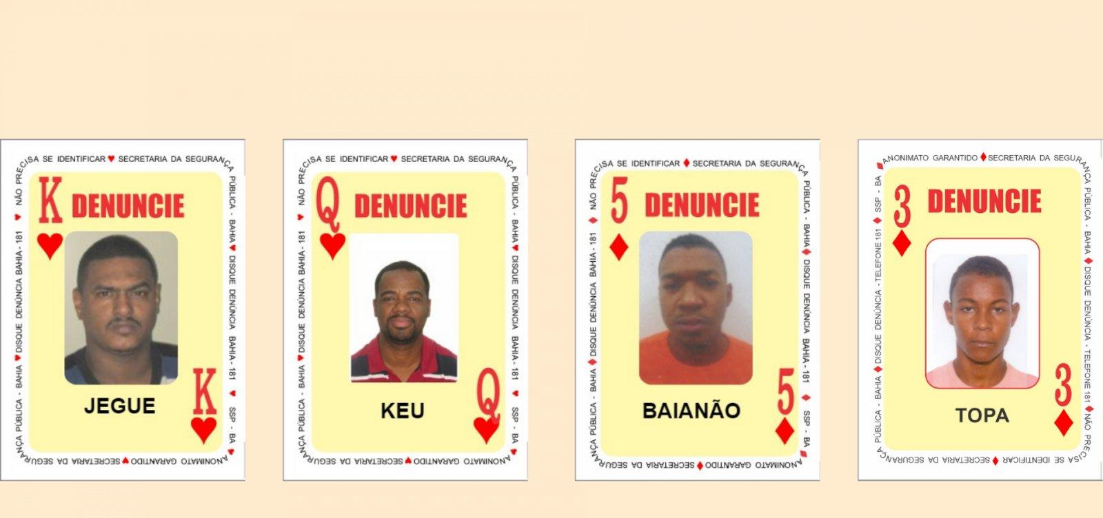 SSP adiciona mais quatro criminosos em lista de mais procurados da Bahia