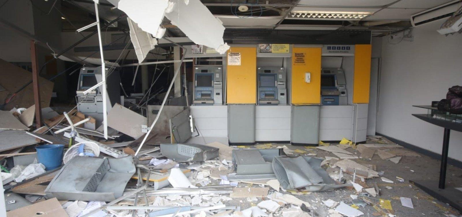 Em comparação com ano anterior, Bahia tem aumento de 170% em explosões a banco em 2021