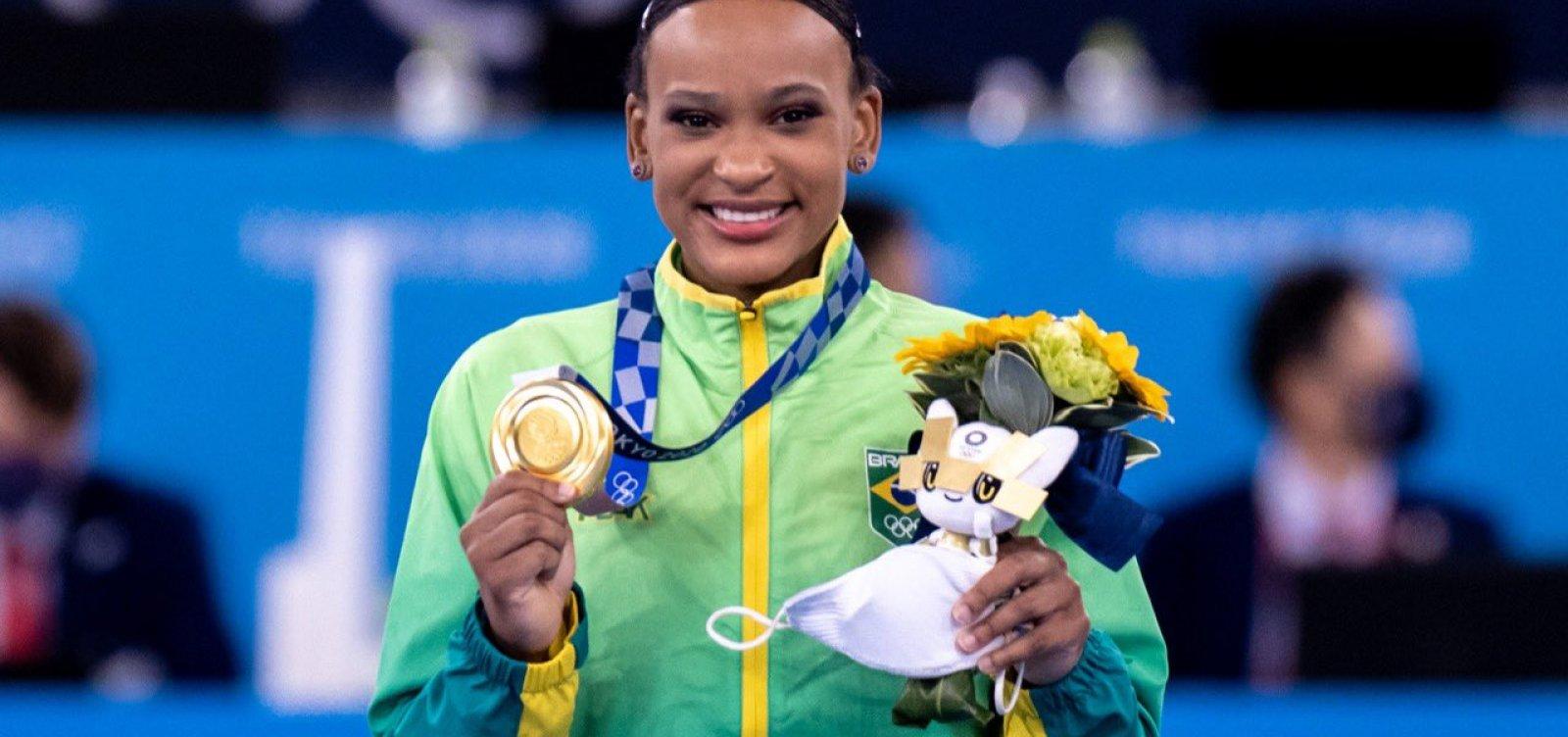 Rebeca Andrade será a porta-bandeira do Brasil na cerimônia de encerramento das Olimpíadas