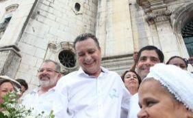 """Bonfim: """"Estou aqui pra pedir um ano de muito trabalho para a Bahia"""", diz Rui"""