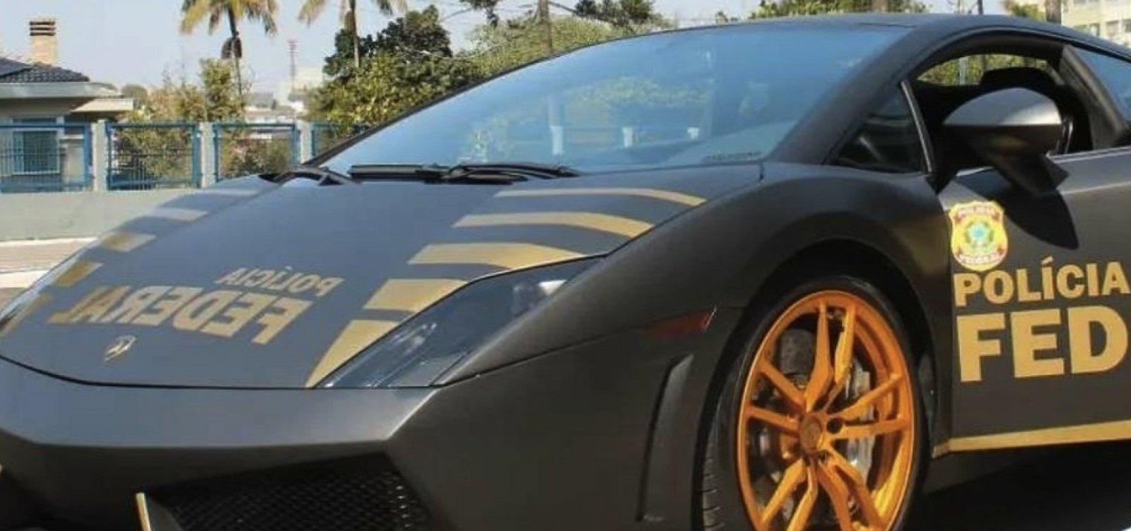 Lamborghini de R$ 800 mil apreendida em ação contra golpistas vira viatura da PF