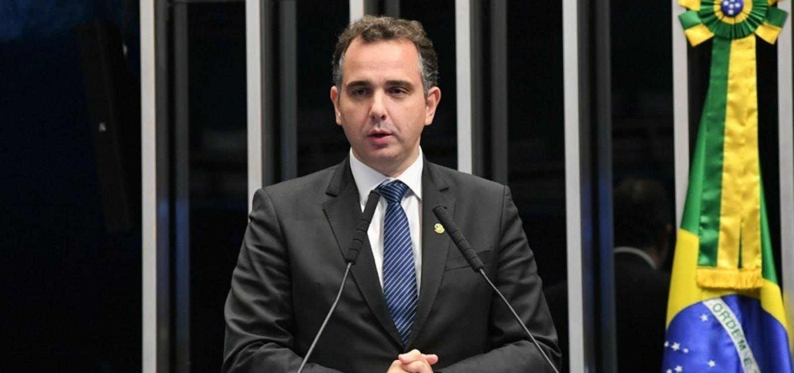 Pacheco rejeita pedido de impeachment contra Alexandre de Moraes apresentado por Bolsonaro