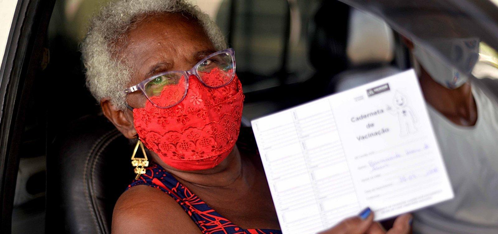 Covid-19: Bahia já vacinou 76% do público-alvo com pelo menos uma dose
