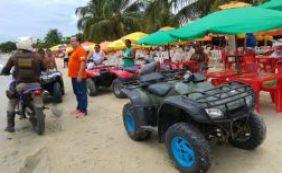 Detran apreende 13 quadriciclos irregulares na praia de Cabuçu no Recôncavo
