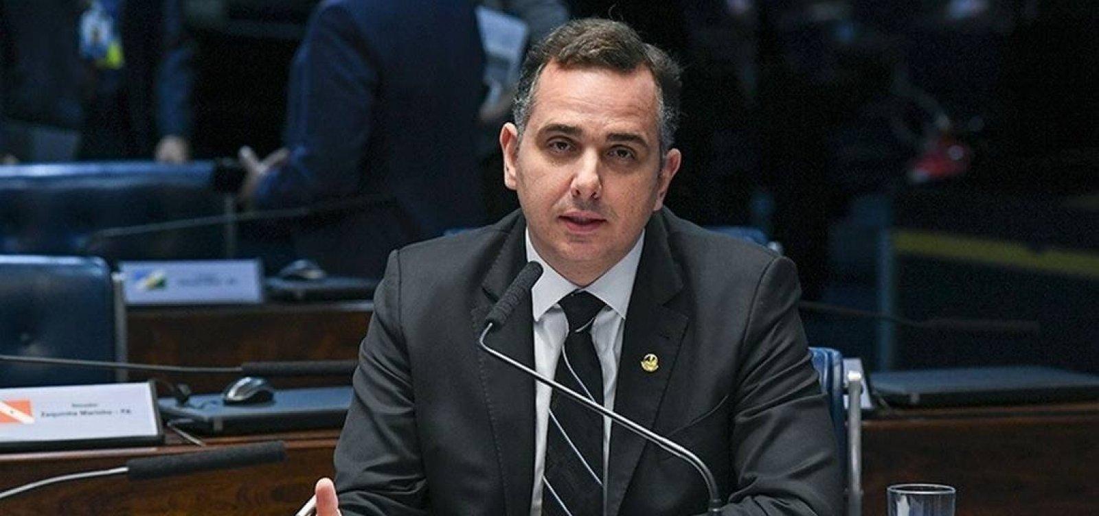 """Pacheco diz esperar que carta de Bolsonaro """"se perpetue como uma tônica"""" na relação entre Poderes"""