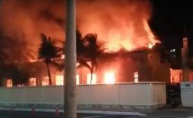 Incêndio atinge Igreja dos Mórmons em Amaralina; salão principal é destruído