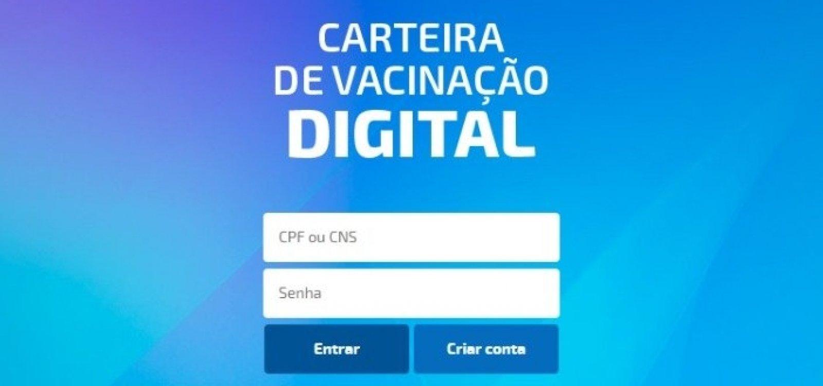Para comprovar aplicação de doses, Salvador lança carteira digital de vacinação