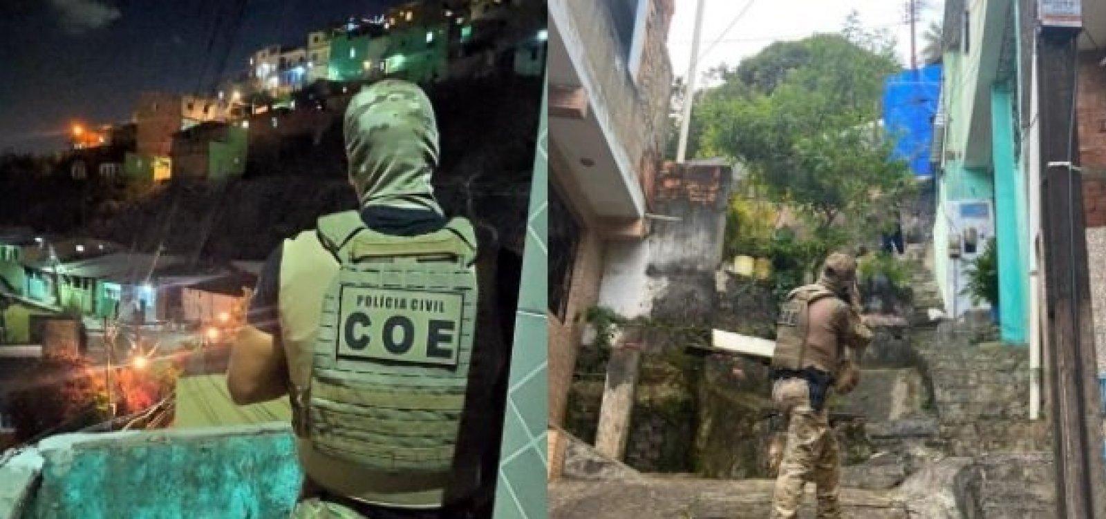 Operação contra o tráfico aborda 100 pessoas em dois bairros de Salvador