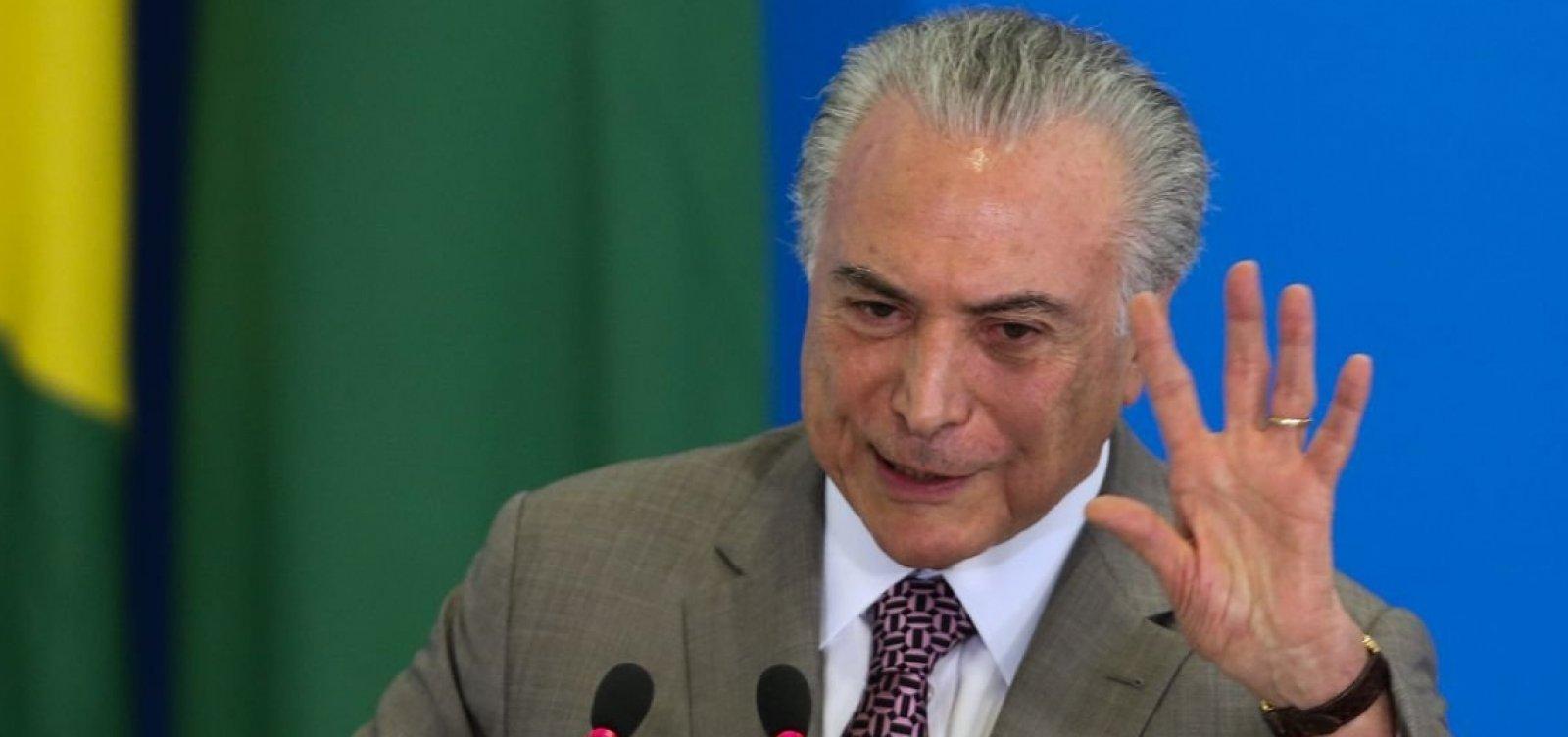 Temer diz não se colocar como opção para disputa presidencial em 2022