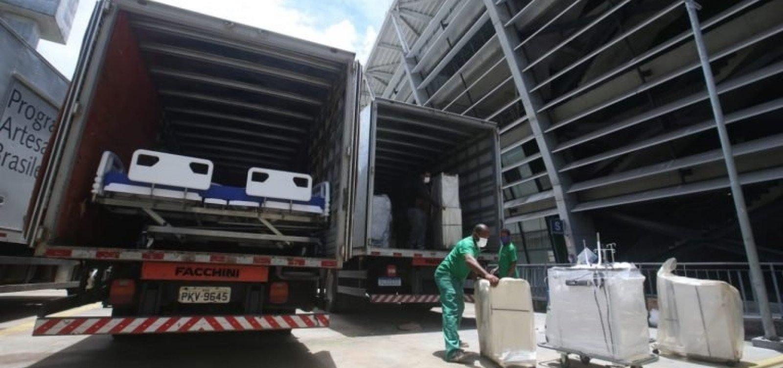 Hospital na Arena Fonte Nova é desmobilizado e Bahia perde 100 leitos de UTI para Covid-19
