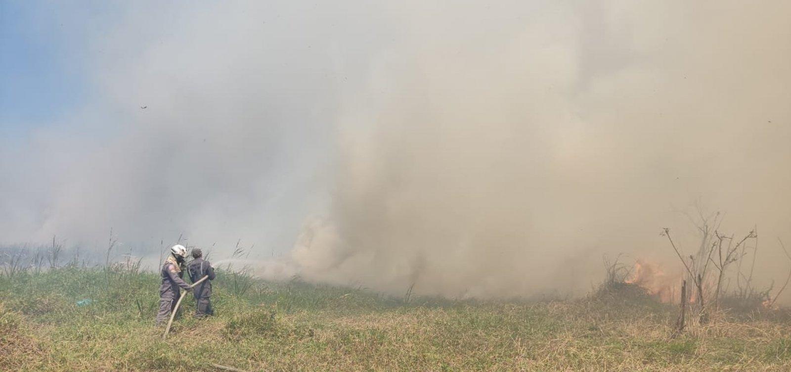 Sem vítimas, incêndio em parque de Vitória da Conquista é controlado