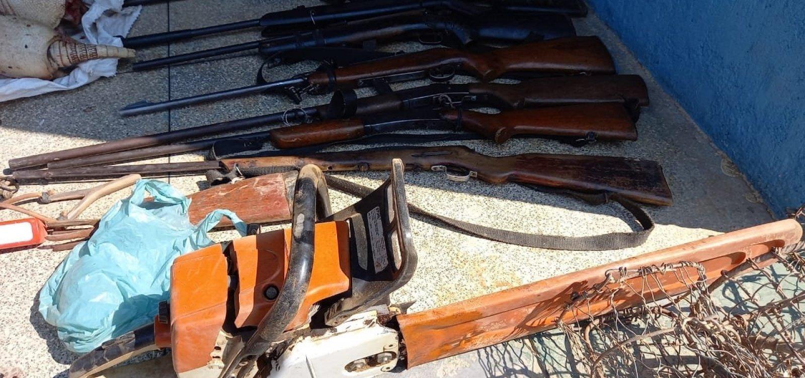 Ação de combate à caça predatória prende dois suspeitos e apreende sete armas