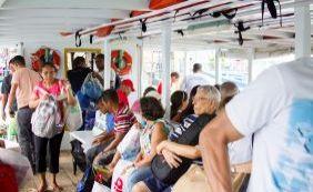 Travessia Salvador-Mar Grande tem movimento intenso nesta segunda; confira