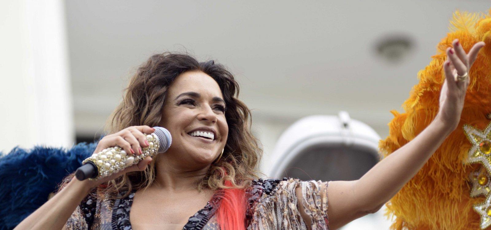 Após polêmica com Netinho, Daniela Mercury provoca ao lançar versão de 'Milla' no dia 17