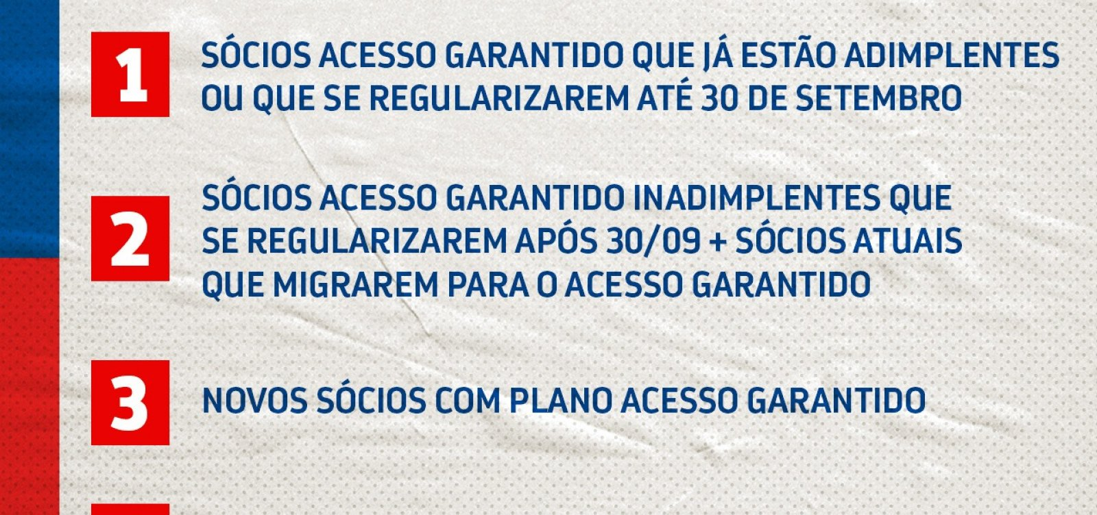 Esperando público nos estádios, Bahia estabelece prioridades na compra de ingressos