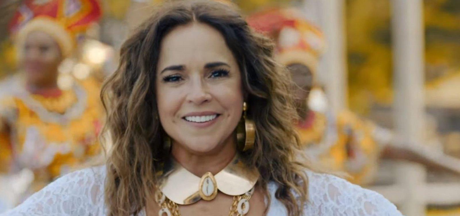 Daniela Mercury se inspira em Astrid Fontenelle e também oferece 'publis' para manter Itaú com Cine Glauber