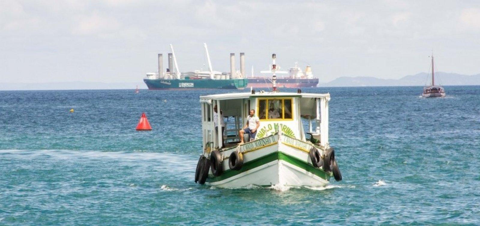 Maré baixa interrompe travessia de lanchas entre Salvador e Mar Grande