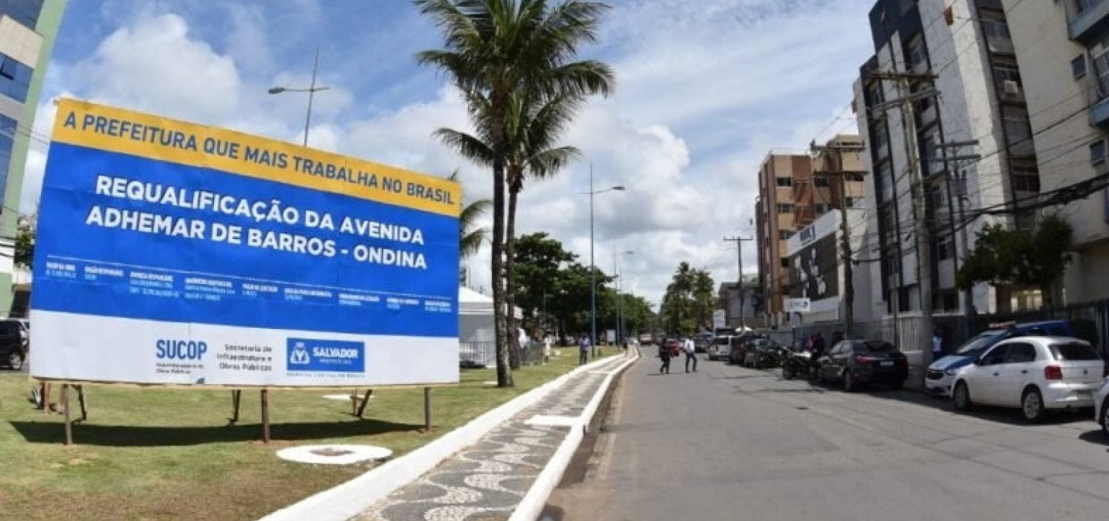 """Campanha pede que avenida em Ondina deixe de ser do """"rouba, mas faz"""" e vire do """"por uma globalização"""""""