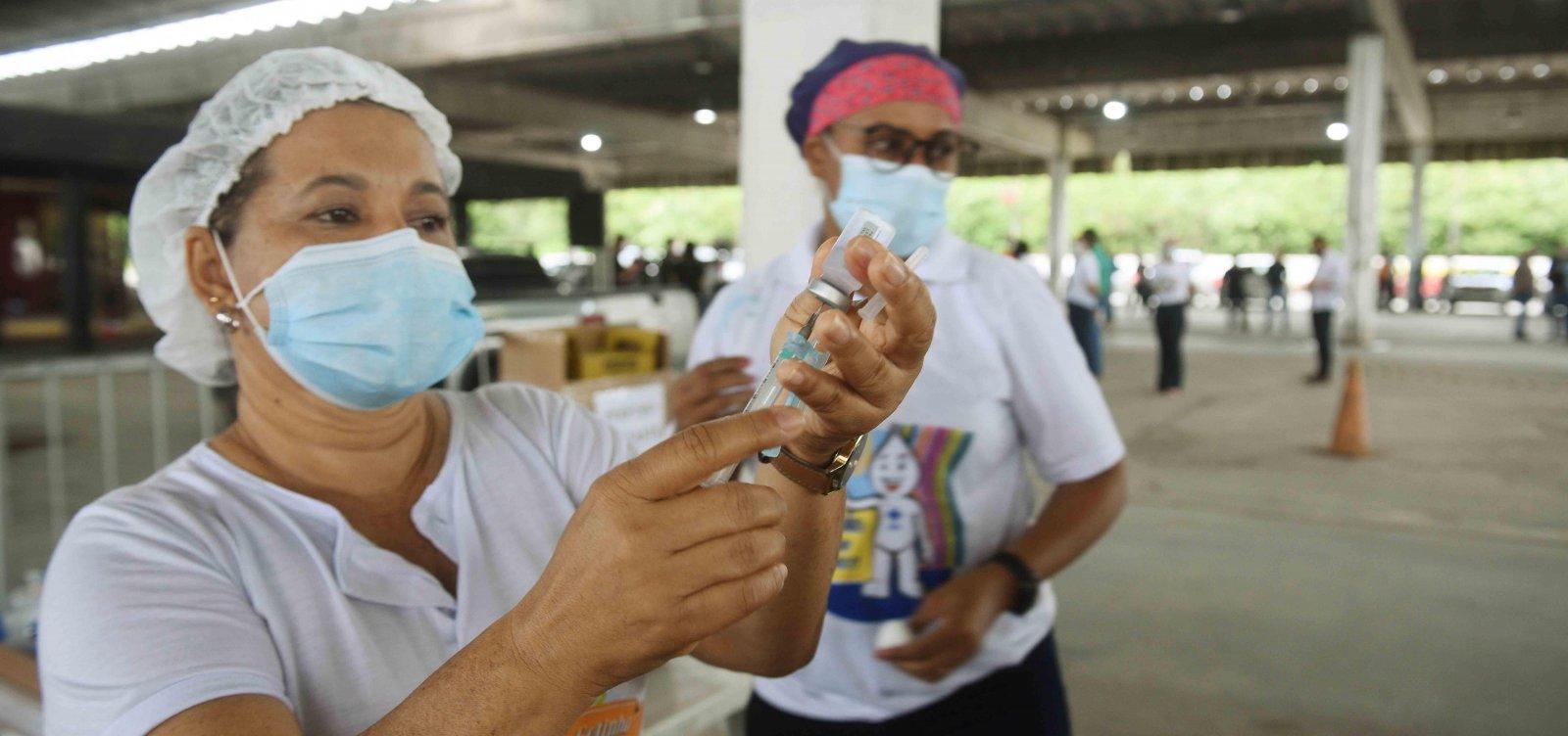 Bahia vacinou 75,2% da população acima de 12 anos com pelo menos uma dose da vacina