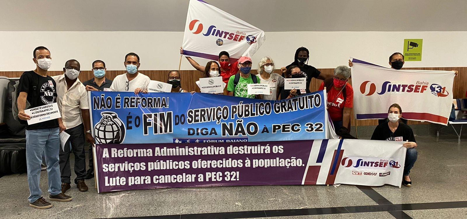 Servidores protestam contra a Reforma Administrativa