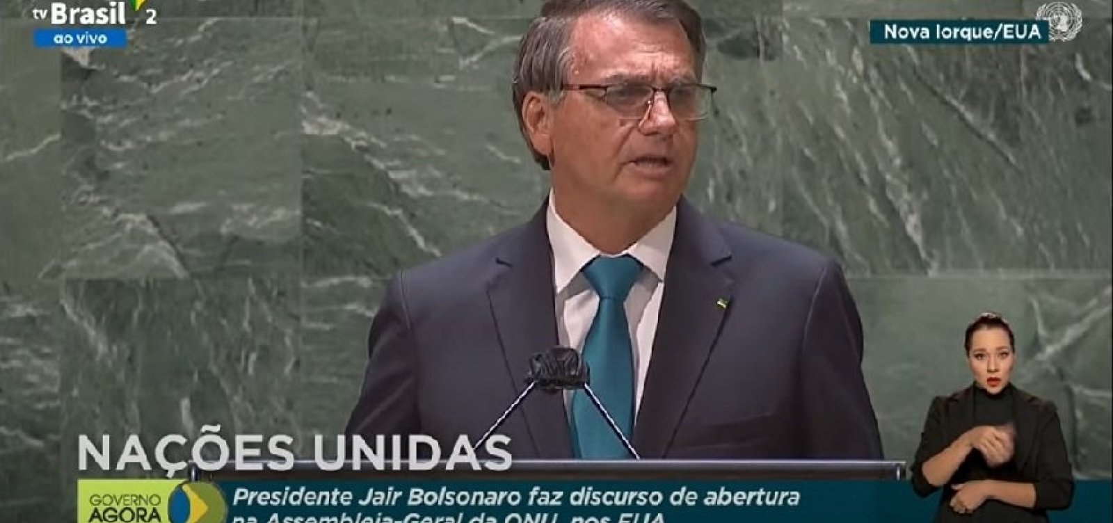 """Na ONU, Bolsonaro defende tratamento precoce, ataca lockdown e fala em """"família tradicional"""""""