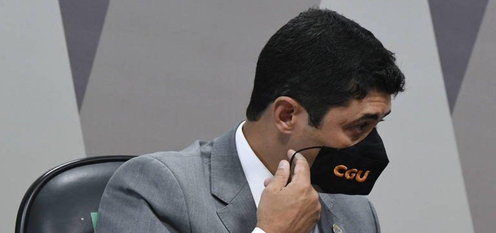 Em depoimento à CPI, ministro da CGU rebate acusações de prevaricação
