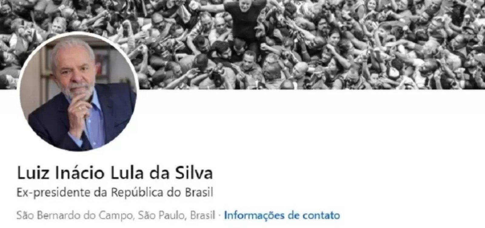 Lula cria perfil no LinkedIn, lista carreira política e cita experiência como torneiro mecânico