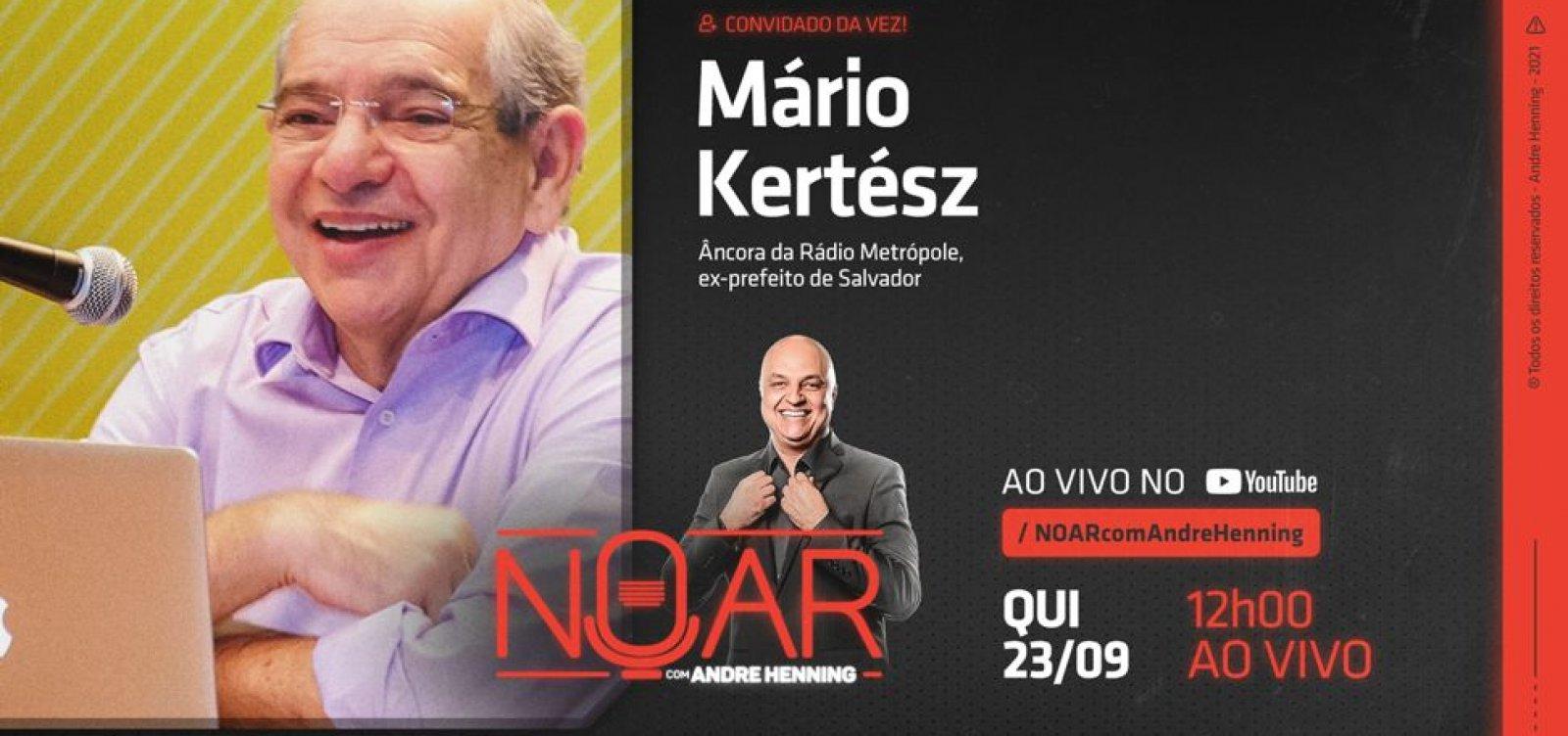 Mário Kertész é o entrevistado do programa No Ar, com André Henning