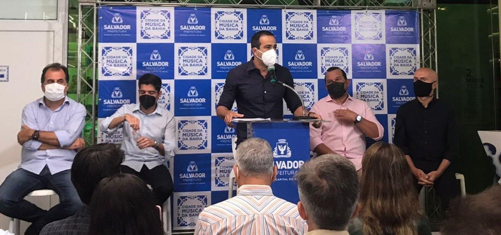 Bruno Reis diz que Salvador não precisa mais de evento-teste e critica aglomerações na cidade