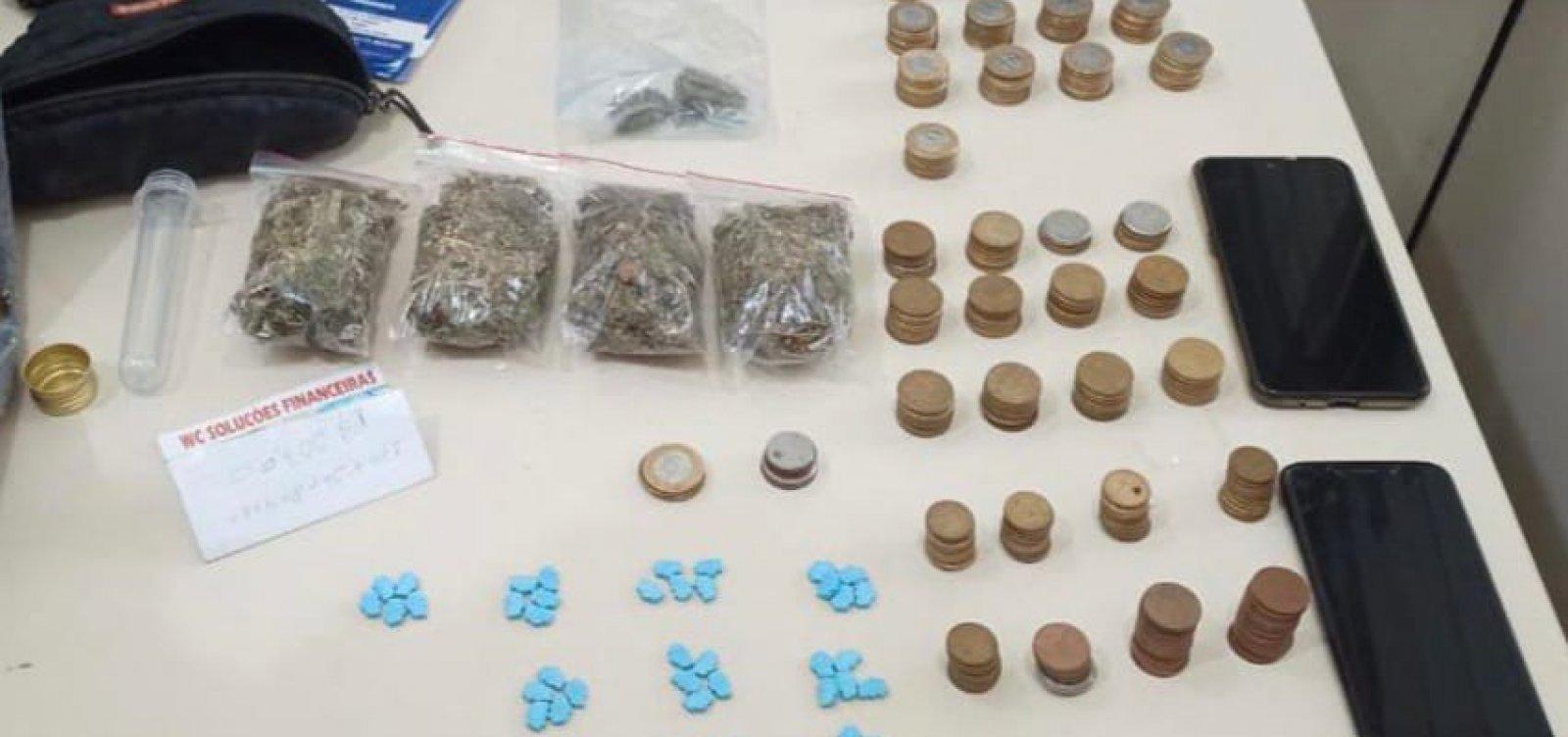 Delivery de droga sintética é desmontado pela 52ª CIPM na praia de Ipitanga