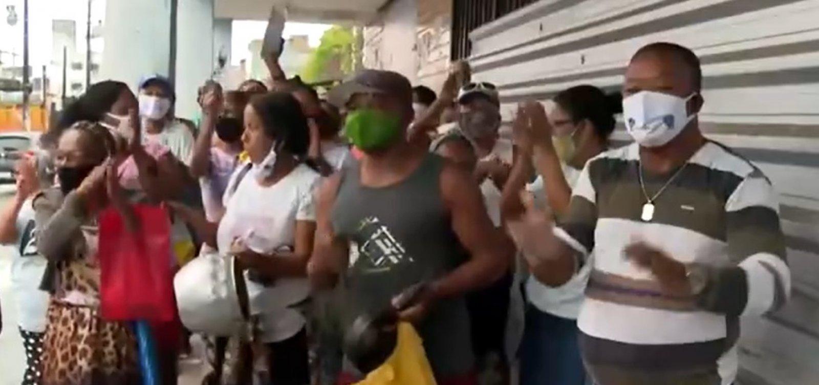 Marisqueiros e pescadores fazem protesto e pedem retorno dos trens no subúrbio