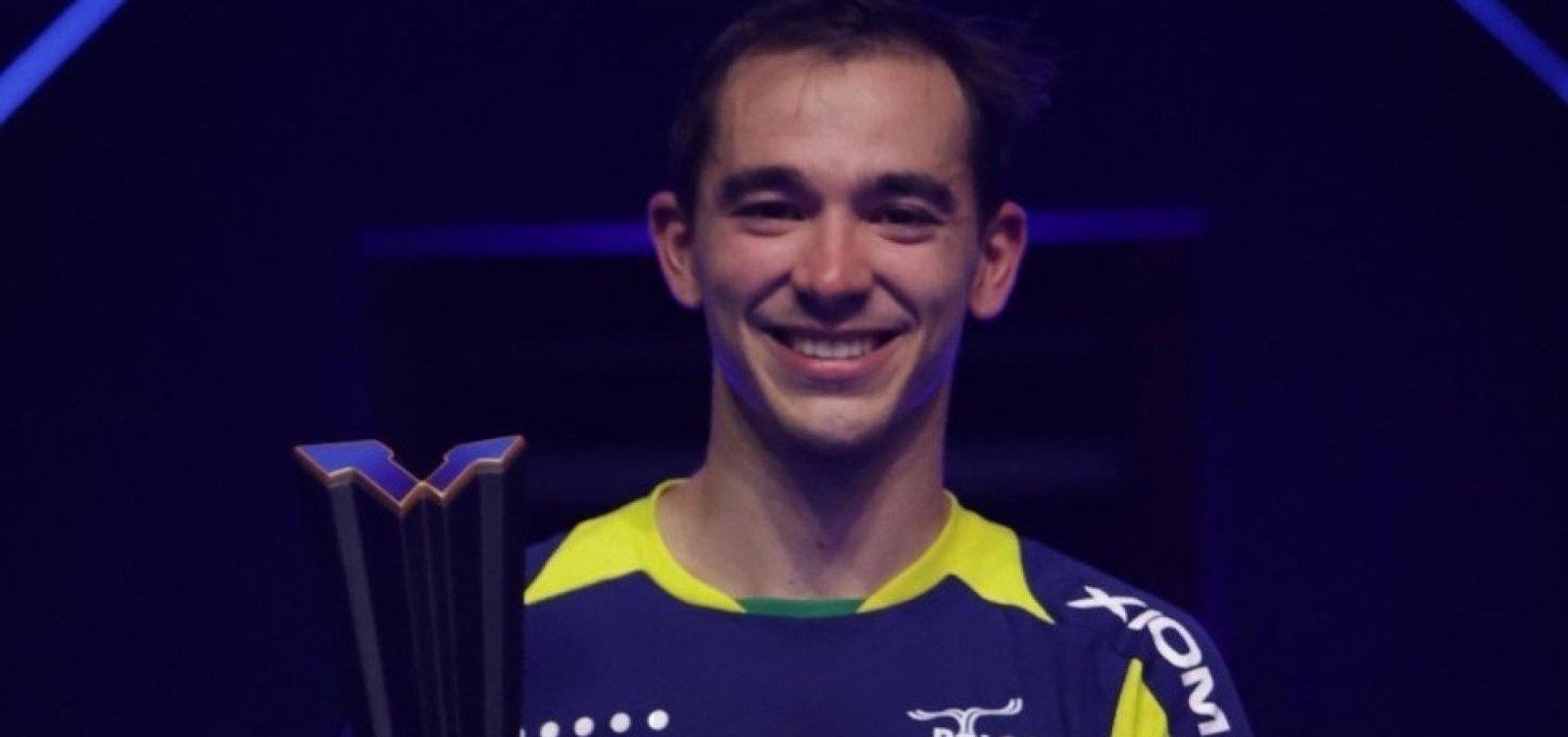 Hugo Calderano fatura título inédito no Circuito Mundial de tênis de mesa