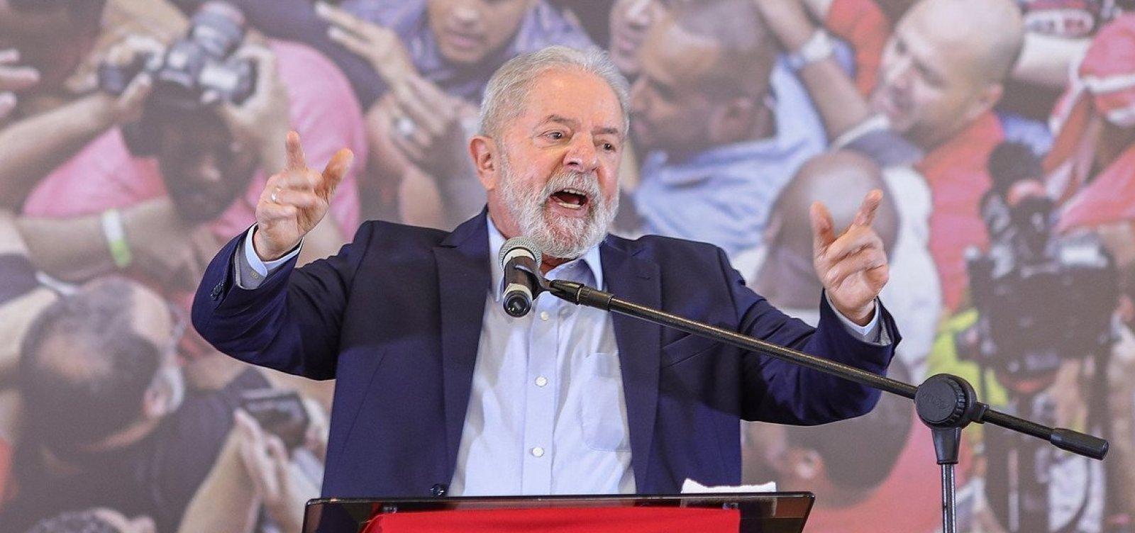 Lula só irá a atos da oposição com a presença de outros presidenciáveis