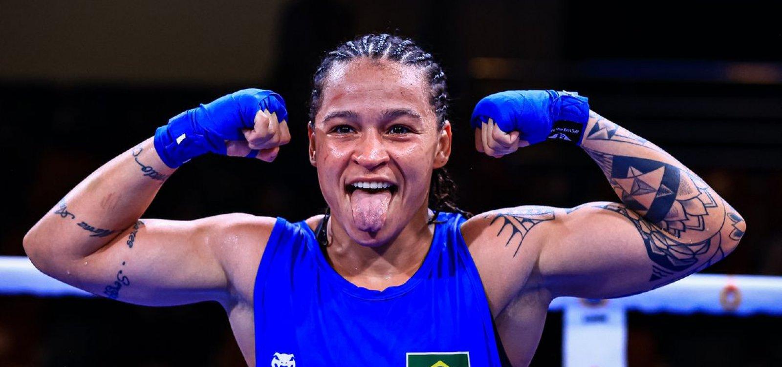 Baiana Bia Ferreira garante ouro no Mundial Militar de Boxe, em primeira competição após Tóquio